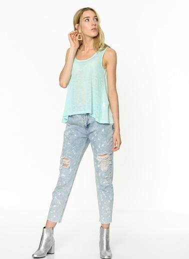 Fashion Friends Kolsuz Şifon Bluz Yeşil